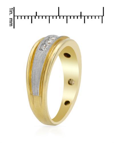 De Dears 黛狄尔斯 14K彩金0.25克拉纯天然钻石男士戒指