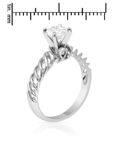 De Dears 黛狄尔斯 14K白金1.06克拉纯天然钻石戒指