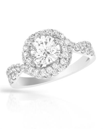 De Dears 黛狄尔斯 14K白金1.77克拉纯天然钻石戒指