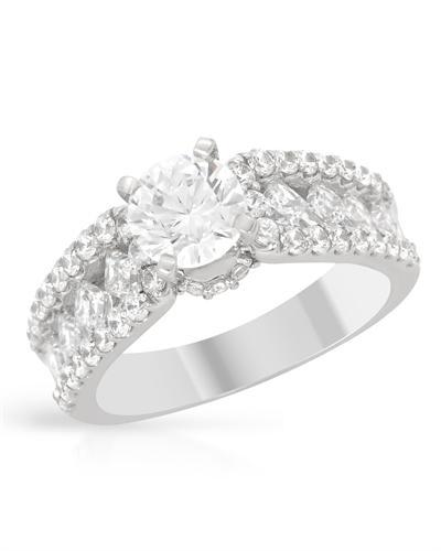 De Dears 黛狄尔斯 14K白金2.42克拉纯天然钻石戒指