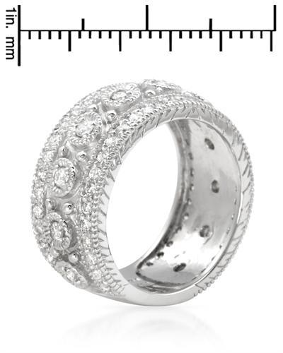 De Dears 黛狄尔斯 14K白金1.15克拉纯天然钻石女士戒指