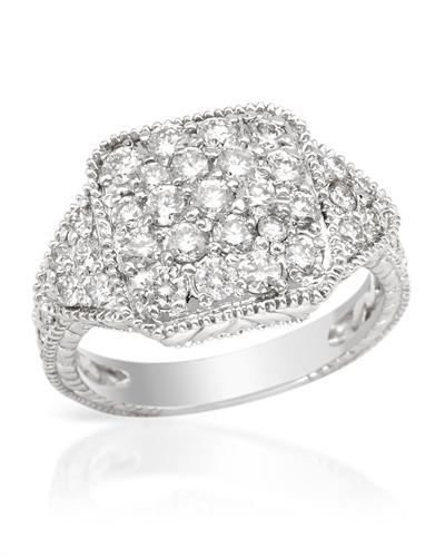 De Dears 黛狄尔斯 14K白金1.53克拉纯天然钻石戒指