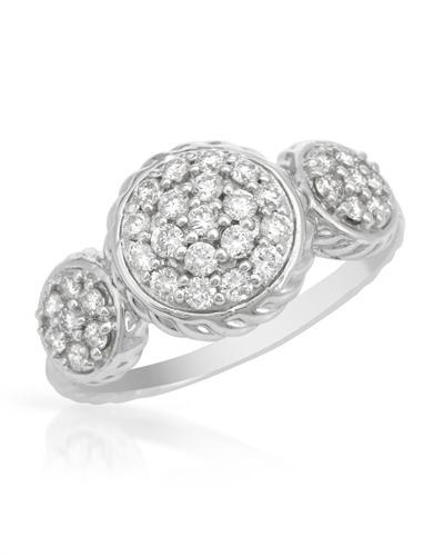 De Dears 黛狄尔斯 14K白金0.62克拉天然钻石女士戒指