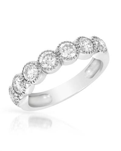De Dears 黛狄尔斯 14K白金天然钻石女士戒指