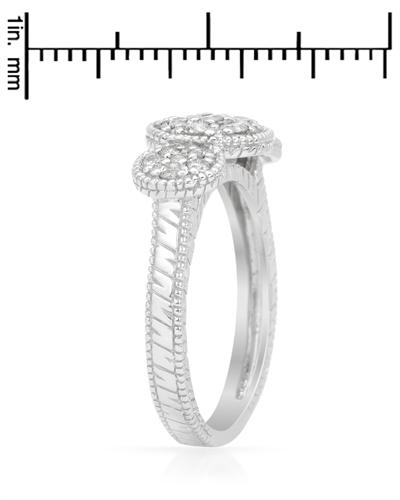 14K白金0.5克拉纯天然钻石女士戒指