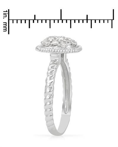 14K白金0.51克拉纯天然钻石女士戒指