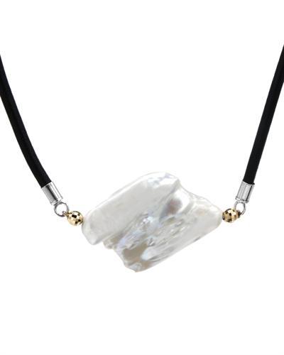 银镀金天然珍珠项链