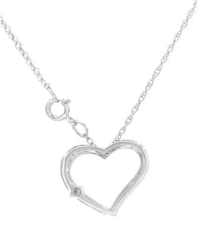 De Dears 黛狄尔斯 14K白金0.05克拉纯天然钻石心形项链
