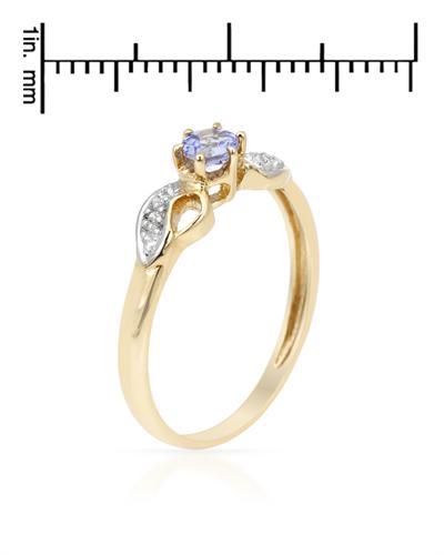 De Dears 黛狄尔斯 10K黄金0.29克拉天然坦桑石戒指