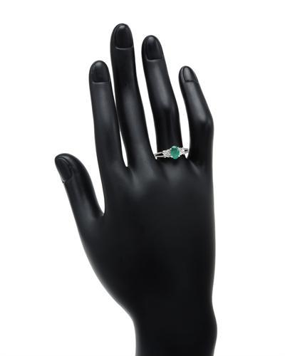 Celine Fang 赛琳.方 10K白金0.87克拉天然祖母绿戒指