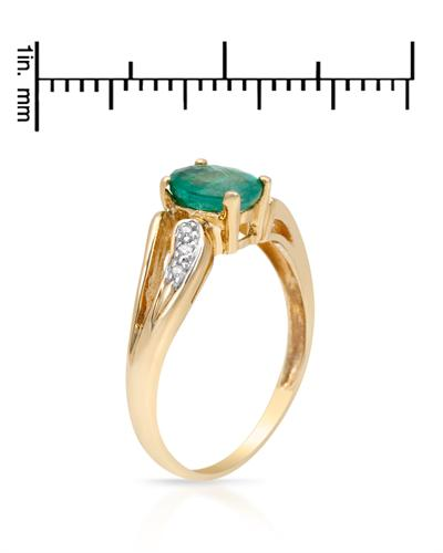 Celine Fang 赛琳.方 10K黄金0.6克拉天然祖母绿戒指