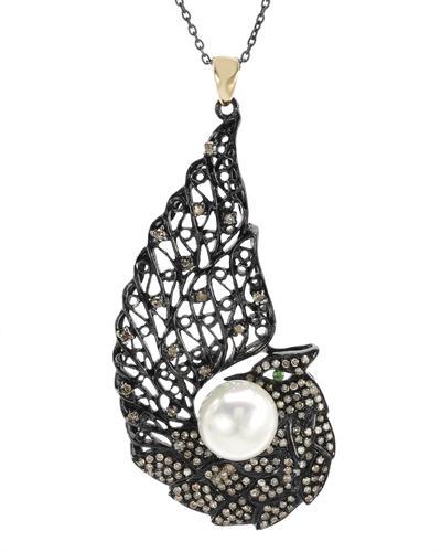 De Dears 黛狄尔斯 925纯银1克拉纯天然珍珠项链