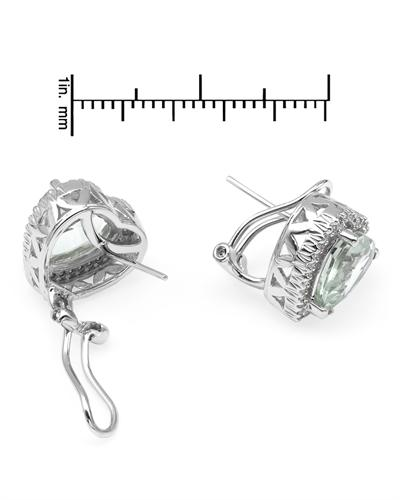 De Dears 黛狄尔斯 14K白金4.95克拉天然紫晶心形耳环