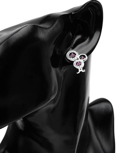 Celine Fang 赛琳.方 14K白金0.6克拉天然红宝钻石耳环