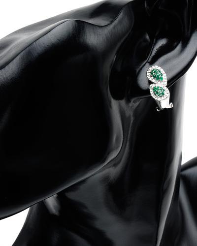Celine Fang 赛琳.方 14K白金0.9克拉天然祖母绿耳环