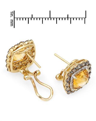Celine Fang 赛琳.方 14K黄金4.1克拉天然黄晶耳环