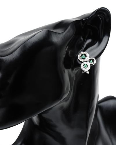 De Dears 黛狄尔斯 14K白金0.55克拉天然祖母绿耳环