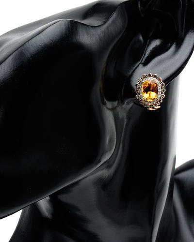 Celine Fang 赛琳.方 14K黄金4.8克拉天然黄晶耳环