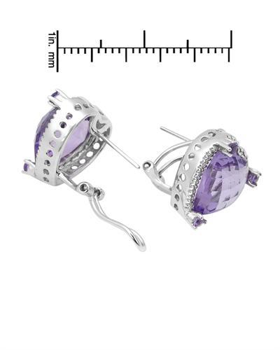Celine Fang 赛琳.方 14K白金10.35克拉天然紫晶心形耳环