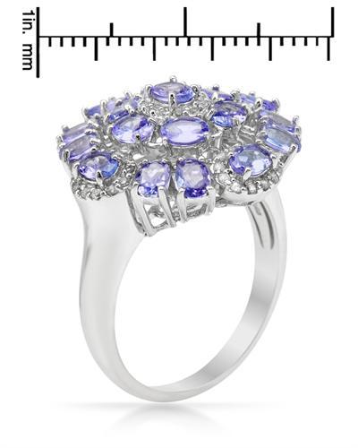 De Dears 黛狄尔斯 10K白金3.1克拉天然坦桑石戒指