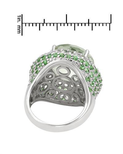 De Dears 黛狄尔斯 925银15.05克拉天然紫晶鸡尾酒戒指