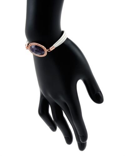 De Dears 黛狄尔斯 银镀金10.1克拉天然紫晶手链