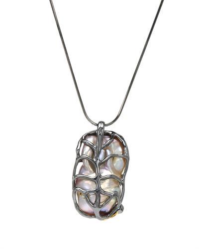 De Dears 黛狄尔斯 银镀金0.45克拉天然珍珠项链
