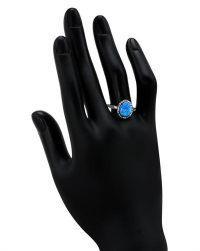 De Dears 黛狄尔斯 925银合成蛋白石戒指