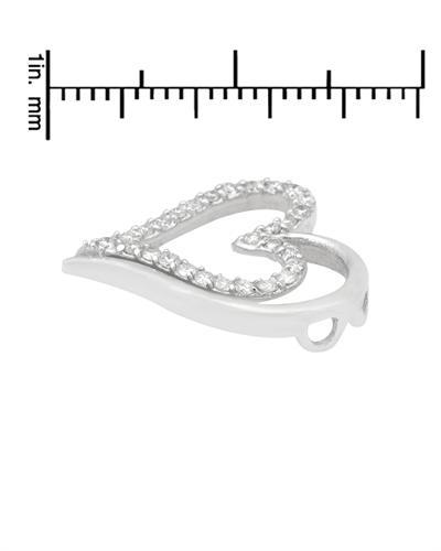 De Dears 黛狄尔斯 14K白金0.33克拉纯天然钻石心形吊坠