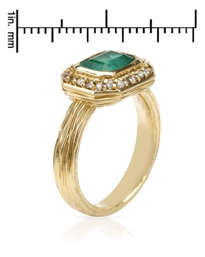 Celine Fang 赛琳.方 14K黄金1.85克拉天然祖母绿戒指