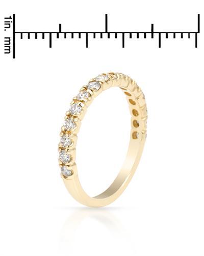 De Dears 黛狄尔斯 14K黄金0.5克拉纯天然钻石戒指