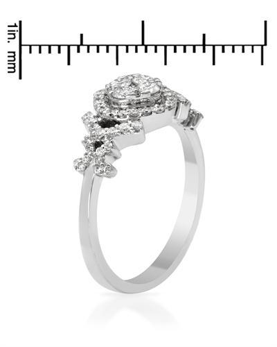 De Dears 黛狄尔斯 14K白金0.56克拉纯天然钻石心形戒指