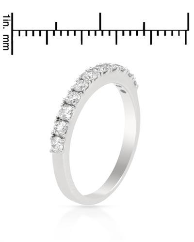 De Dears 黛狄尔斯 14K白金0.51克拉纯天然钻石戒指