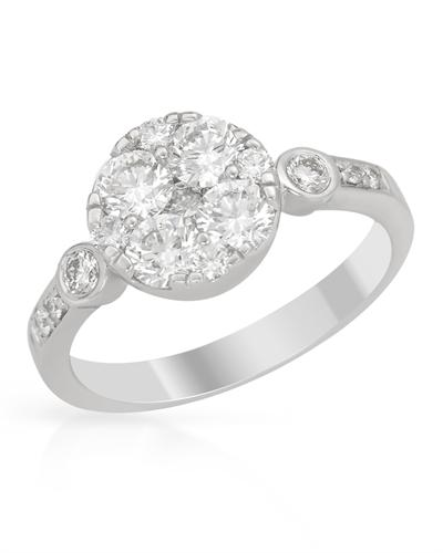 De Dears 黛狄尔斯 14K白金1.33克拉纯天然钻石戒指