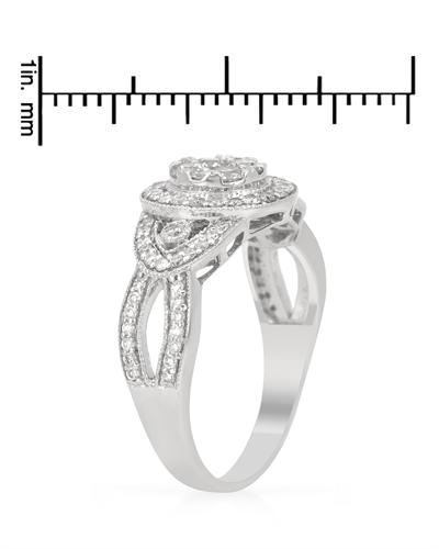 De Dears 黛狄尔斯 14K白金0.71克拉纯天然钻石戒指