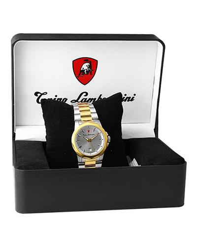 瑞士机芯 Tonino Lamborghini 兰博基尼金色316L精钢商务休闲男士计时石英腕表 EN033.402