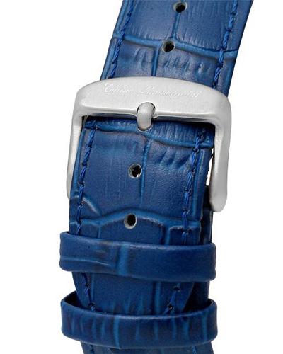瑞士机芯 Tonino Lamborghini 兰博基尼 藏蓝色精镶钻熟男必备商务休闲计时石英腕表 EN033DL.105