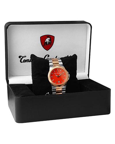 [特惠]Tonino Lamborghini 兰博基尼红色316L精钢男士计时石英腕表 EN033.604