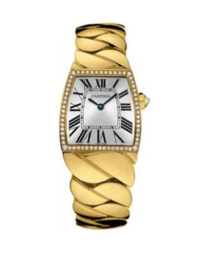 Cartier 卡地亚 La Dona 18K黄金纯天然钻石男士石英腕表 601007