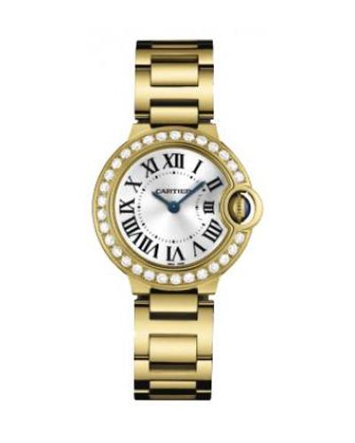 Cartier 卡地亚 Ballon Bleu 18K黄金纯天然钻石男士石英腕表 9001Z3