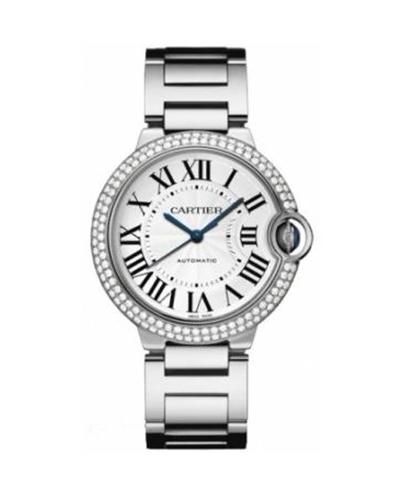 Cartier 卡地亚 Ballon Bleu 18K白金纯天然钻石中性机械腕表 9006Z3